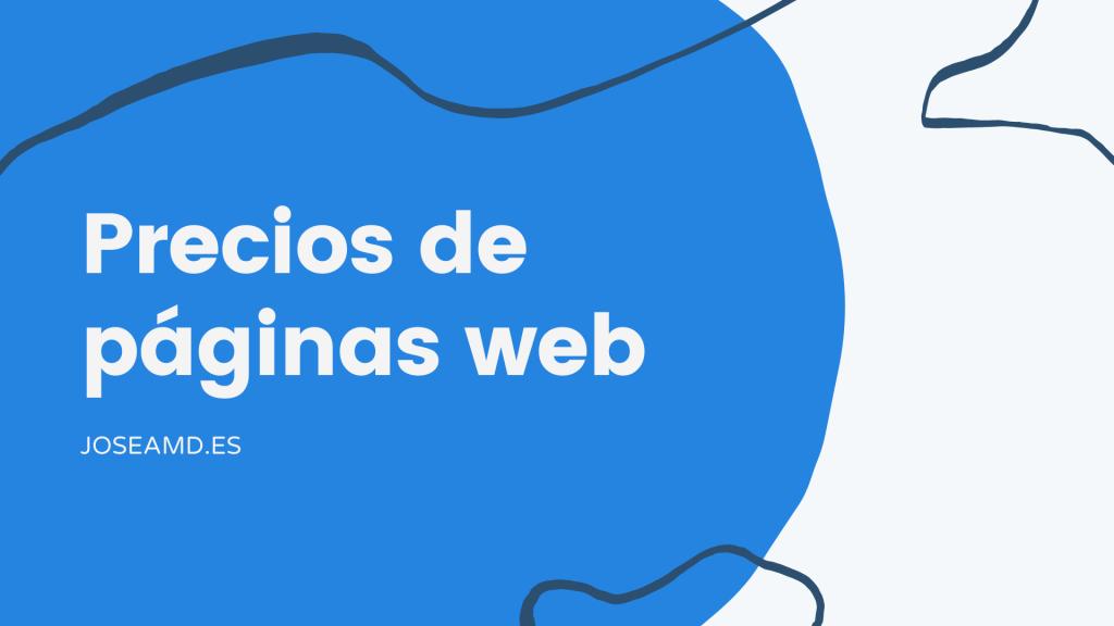 Precios de páginas web